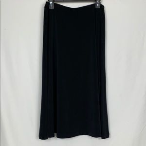 Liz Claiborne black long skirt size Med.